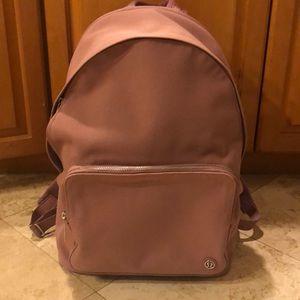Lululemon pink canvas backpack